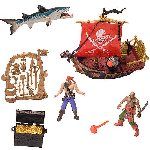 Toys Treasure Boat : Action figure details treasure chest